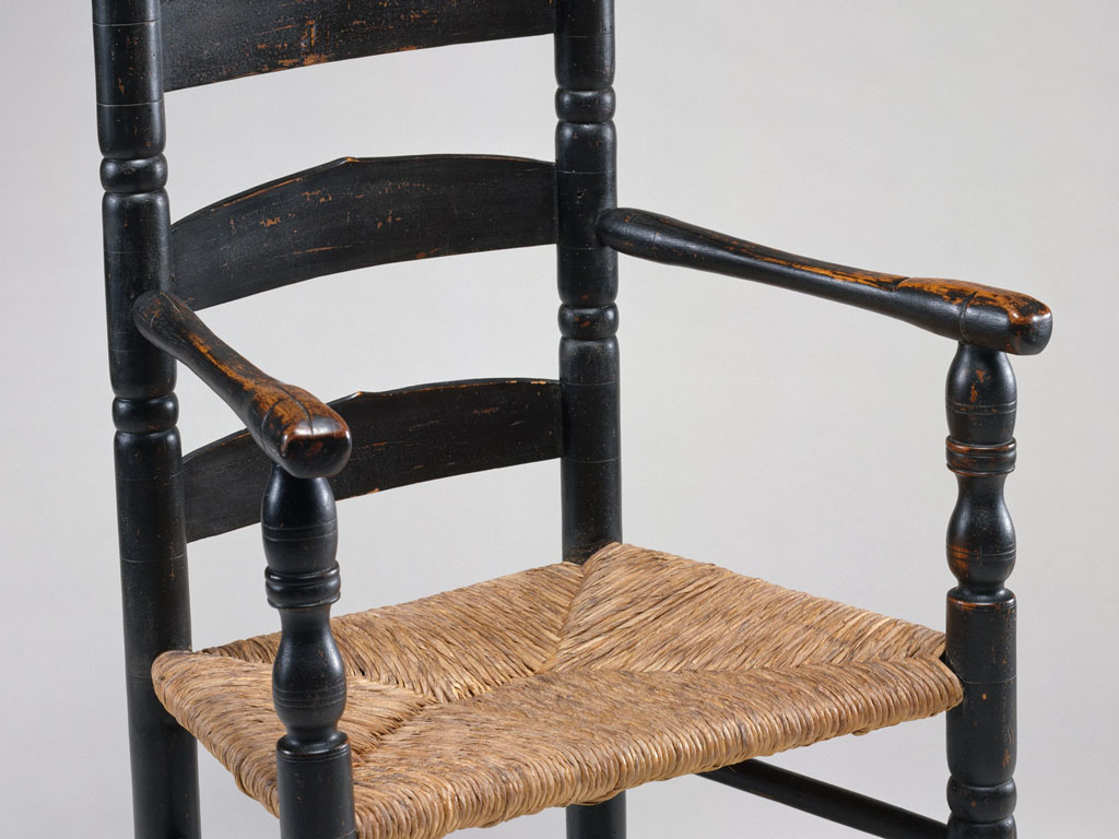 Slat-back chair